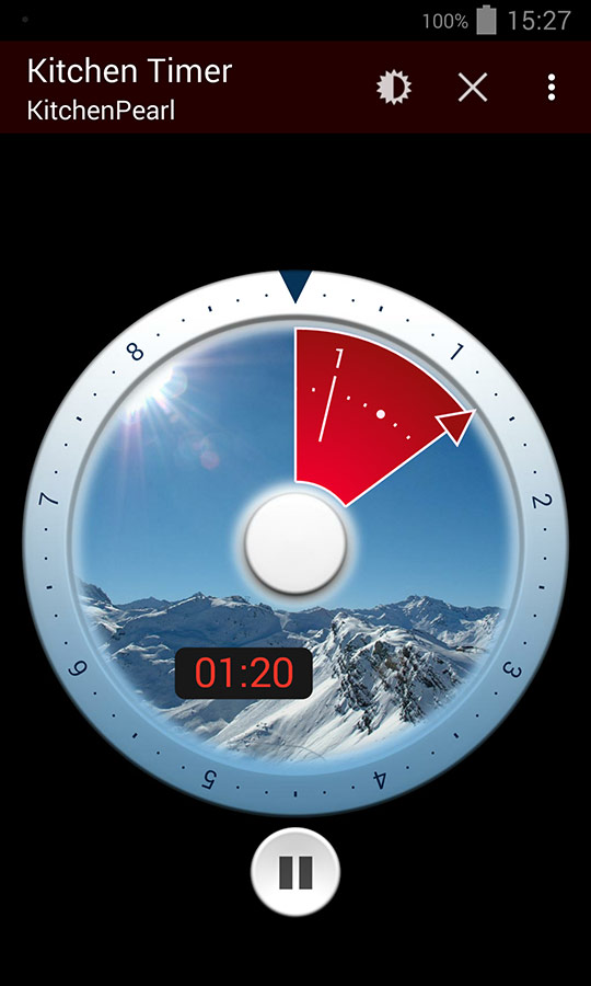 Kitchenpearl free Kitchen Timer app, winter Edition, Screenshot 1