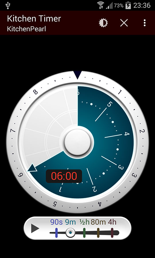 Kitchenpearl free Kitchen Timer app, winter Edition, Screenshot 2